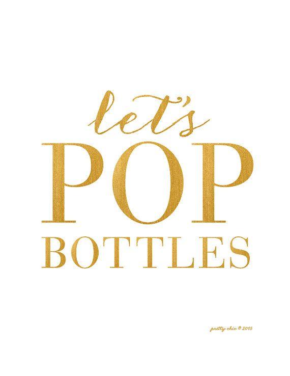 It's Friday! Let's POP Bottles!