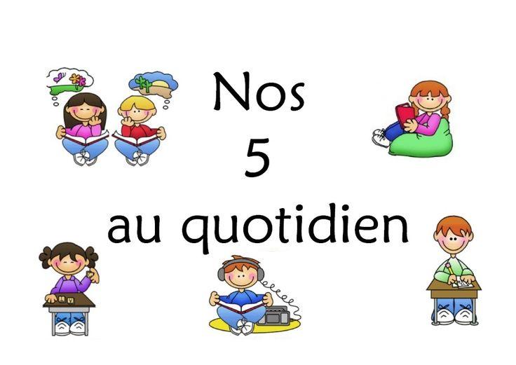 A la rentrée des vacances de Noël, j'ai mis en place les 5 au quotidien dans ma classe de CP, petit à petit. L'année prochaine, je l'instaurerai dès la rentrée scolaire dans mon CP/CE1. C'est un fonctionnement en 'centres' autonomes, portant sur la lecture...