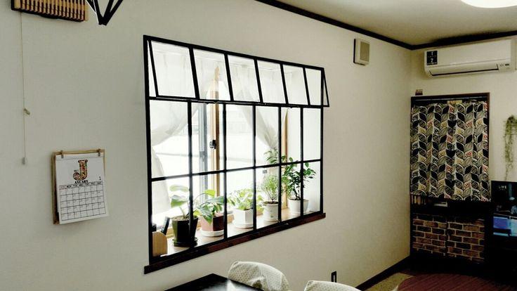 カーテンを無くして出窓にカッコイイ窓枠を作る セリア木製フレームと1 1材 出窓 出窓 インテリア 窓枠