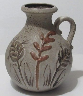 Scheurich Pottery Vase W Germany 495-20 Fat Lava Transitional Brown Speckled in Pottery & Glass, Pottery & China, Art Pottery, European Pottery, German | eBay