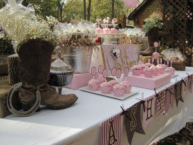 """Photo 45 of 47: Pink cowgirl / Birthday """"Ashtyn's Outdoor Cowgirl Party"""" 