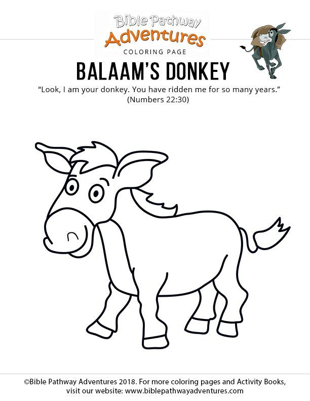 12++ Balaam and his donkey coloring page free download