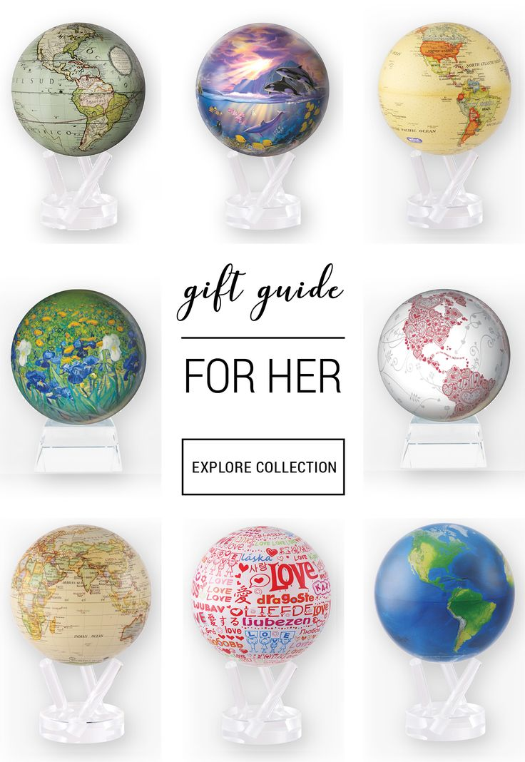 MOVA Globes rotate on their own in ambient light - no wires or batteries necessary. The perfect gift for a special woman in your life.
