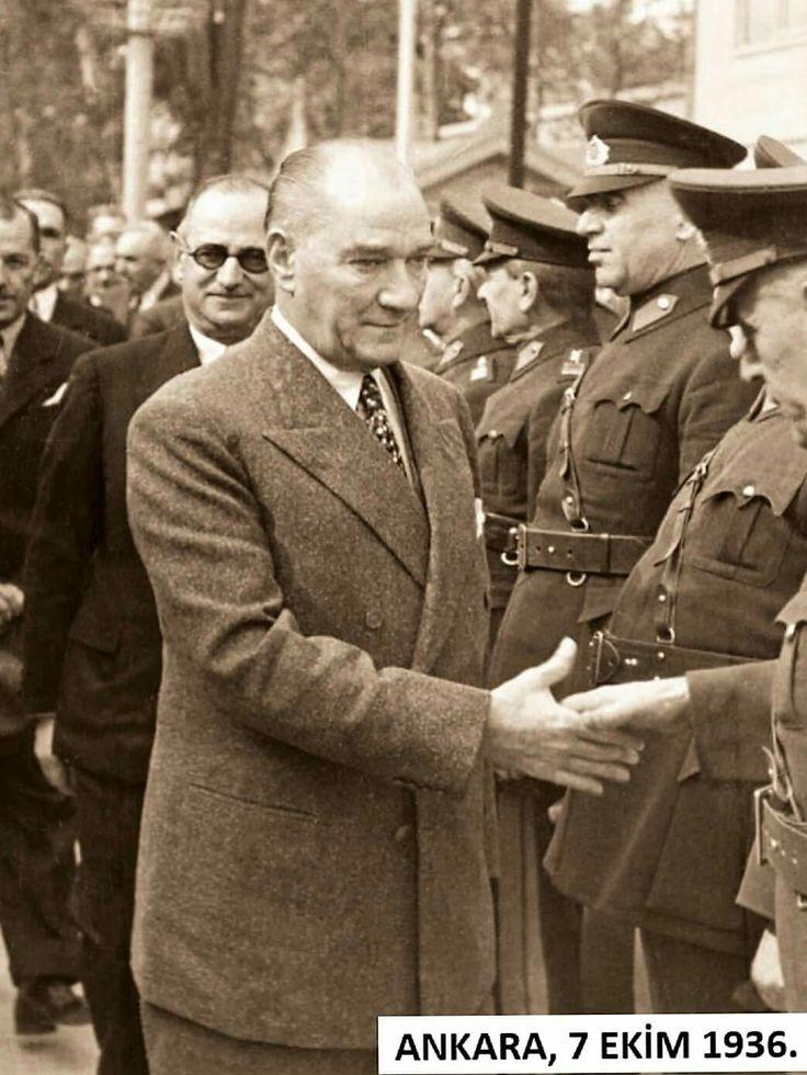 ✿ ❤ Cumhurbaşkanı ATATÜRK, Ankara, 7 Ekim 1936.