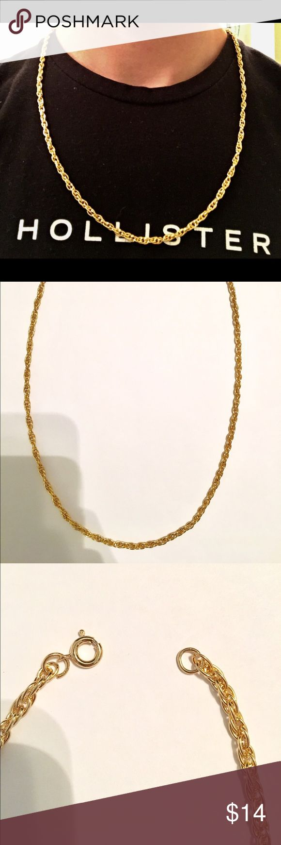 Gold Chain 14k gold 24in 5mm Rope Chain High quality 14k gold filled rope chain  Chain is: • 5mm  • 24in • gold filled with real gold. Gold filled is more valuable then plating and does not fade away or tarnish like plating. • High quality and durable. Able to carry a pendent piece if you so desire. Has good weight to it. Chain will be:  • Packaged well and handled with care. • Shipped within the same or 1 day • Delivered in 2-3 business days of being shipped. Accessories Jewelry