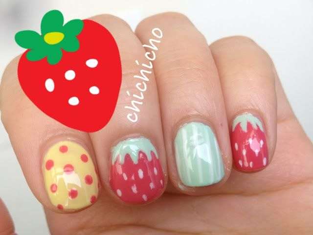 Best 25 strawberry nail art ideas on pinterest quirky diy nails cute strawberry nail art chichicho nail art addicts prinsesfo Images