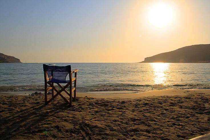 Sunset, taken in Limeni Greece August 2012