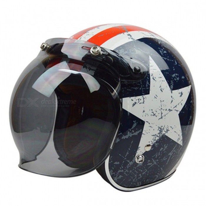 Vintage Motorcycle Helmet Bubble Shield Visor para Harley Moto