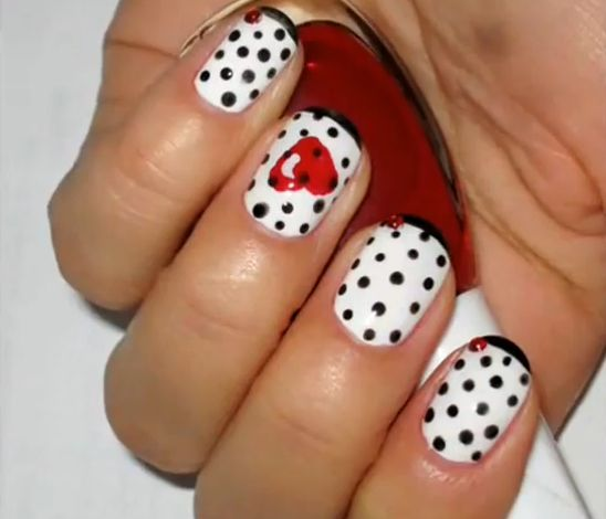 13 Best Nails Images On Pinterest Valentine Nail Art Heels And