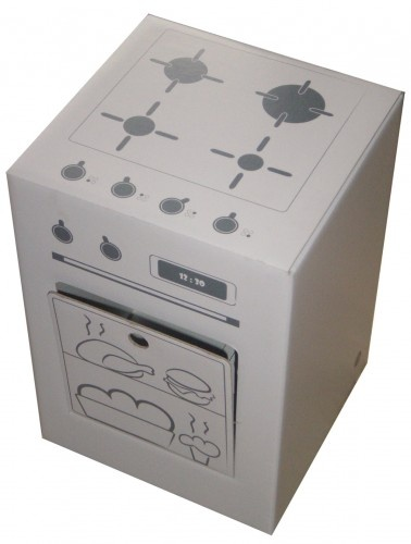 how to make a cardboard stove