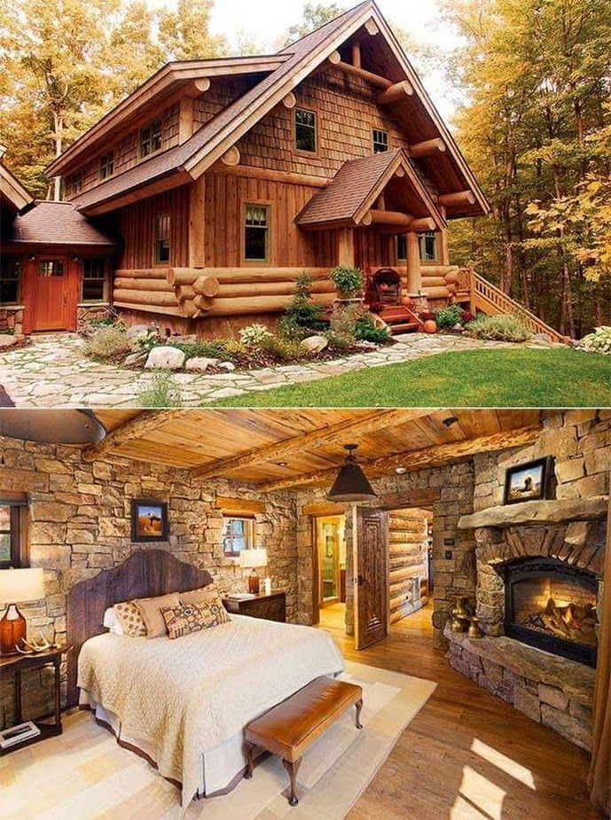 Lobe the wood and fireplace in the bedroom… how …