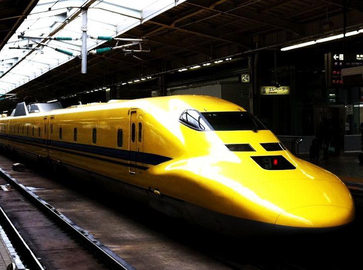 Shinkansen electrics and track inspection train