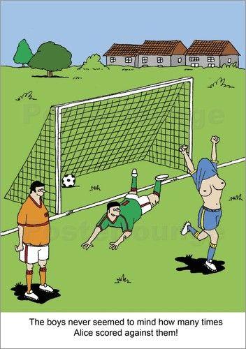 Poster Goal von NAF - Kurz vor der Frauenfußball WM noch mal ein bisschen rumspäßeln ;). #Humor #Satire #FIFAWWC