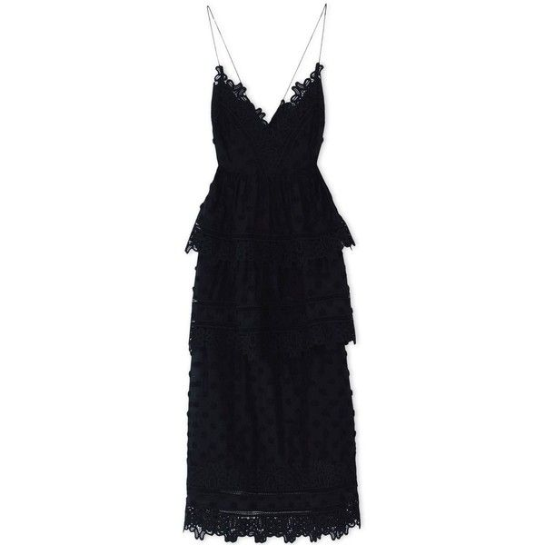 Black Lace Dress (930 BRL) ❤ liked on Polyvore featuring dresses, lace cocktail dresses, lace dress and lacy dress