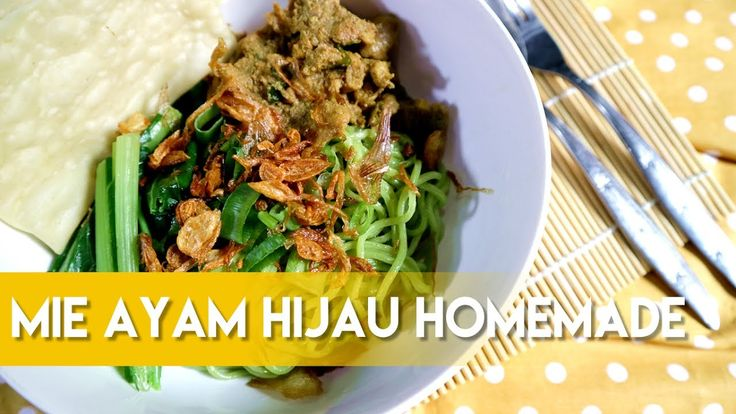 Mie Ayam Hijau Homemade ala Dapur Adis.  Chicken Noodle Indonesia ala Dapur Adis