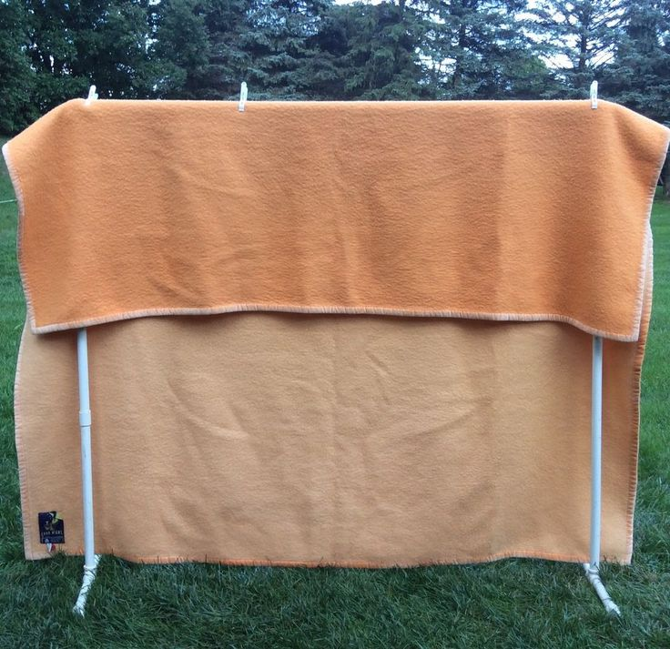 "New Wool Blanket 94"" x 102"" Belgium Reversible Peach Tangerine King Bed Cover | eBay"