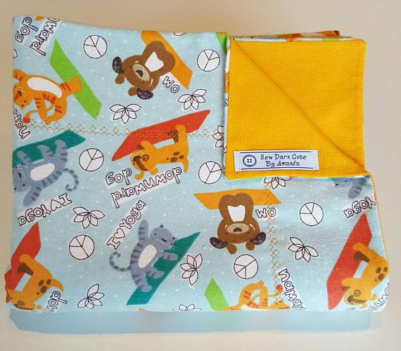 Yoga Cats and Dogs Baby Receiving Blanket