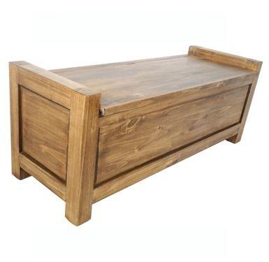Para Carito...pie de cama baúl - madera maciza encerada