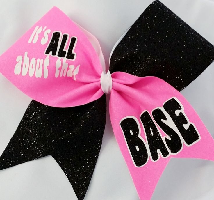 It's All about that base Cheer Bow - CHEERBOWFACTORY.COM
