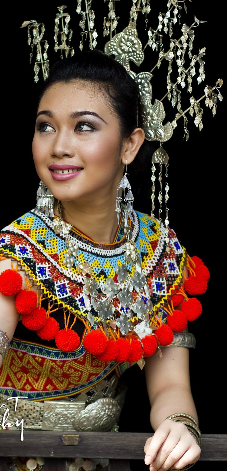 Miss Dayang in Iban Costume  One of the finalist for Miss Photogenic World Harvest Festival 2012