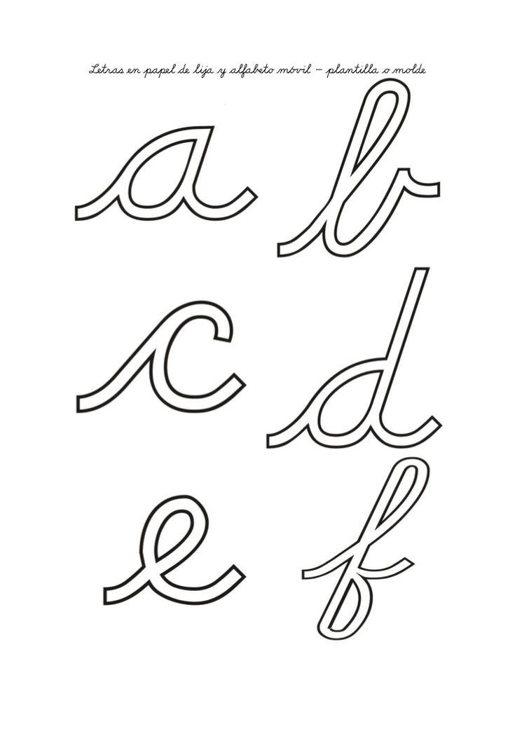 Moldes de letras para lija o papel.