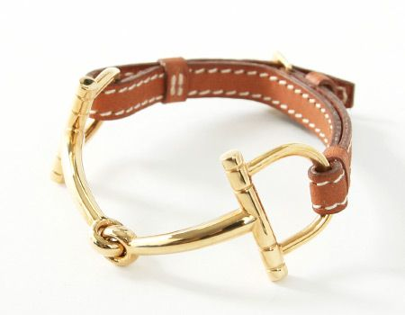Hermès Golden Bit Bracelet Stunning