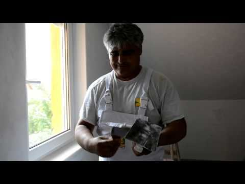 Szobafestő Attila: Glettelés meszes vakolaton - YouTube