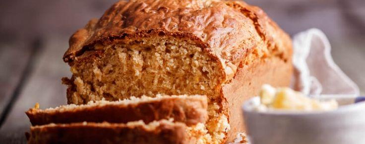 Easy cheesy corn beer bread