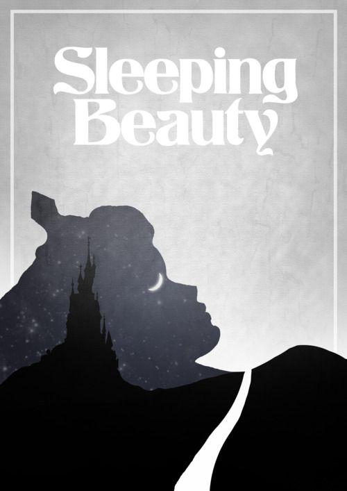 Minimalist Disney PosterSleeping Beauty, Sleep Beautiful, Disney Film, Alternative Disney, Graphics Design, Disney Movie Posters, Disney Posters, Film Posters, Minimalist Poster