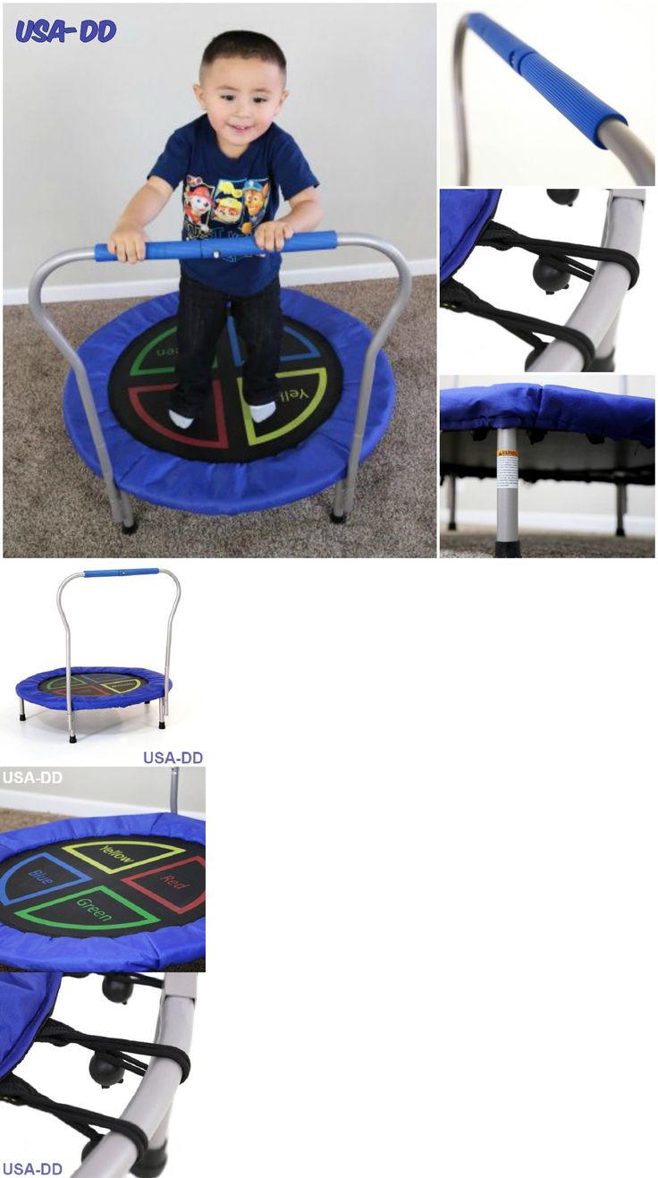 Trampolines 57275: Kids Mini Trampoline Toddler Active Toy 36 Round My First Bounce W/ Handle Bar -> BUY IT NOW ONLY: $48.53 on eBay!