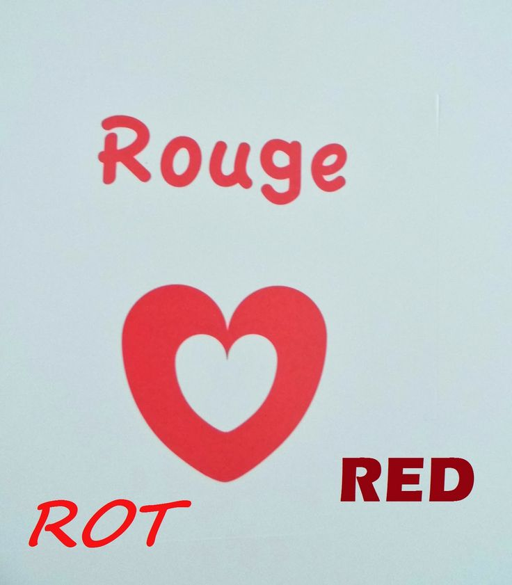 Rouge / Rot / Red