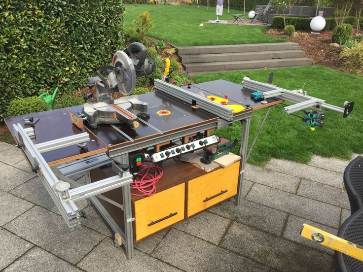 Multifunction table for sawing, milling and welding – wood and glue