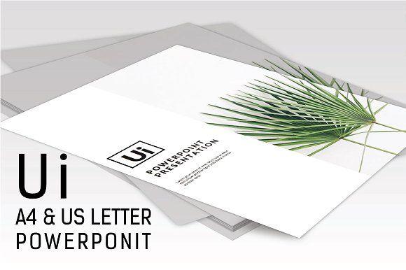 Ui MNML Potrait Powerpoint Template by onestudio on @creativemarket