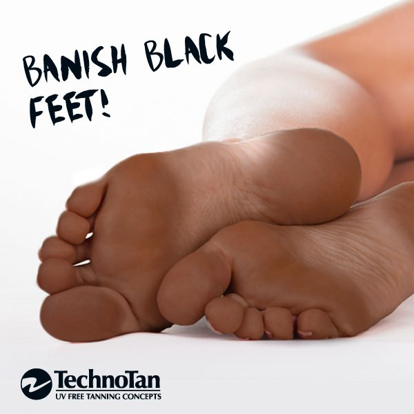 Follow these tips and banish tanning feet forever! #technotan #spraytan #tanningtip