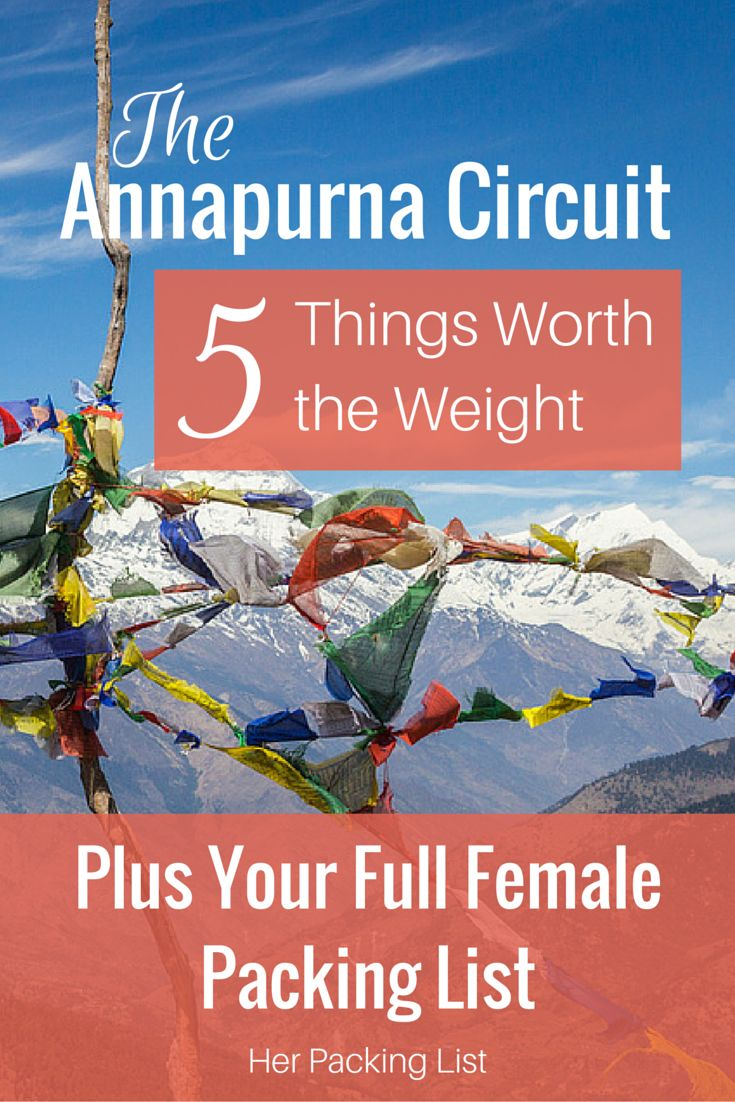 annapurna circuit packing list