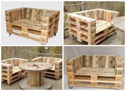 Pallet Armchair on Casters