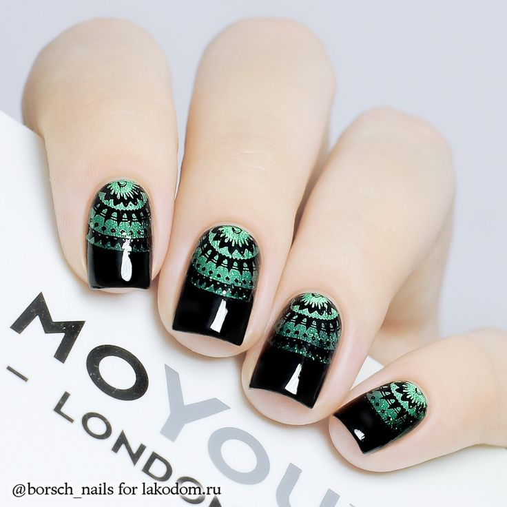 634 best stamping nailart 9 images on pinterest nail art nail could do something like this with doodlesfashionista and a metallicholo stamping polish prinsesfo Gallery