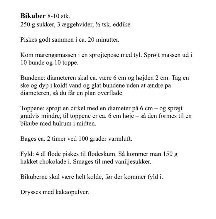 Opskrift på bikuber