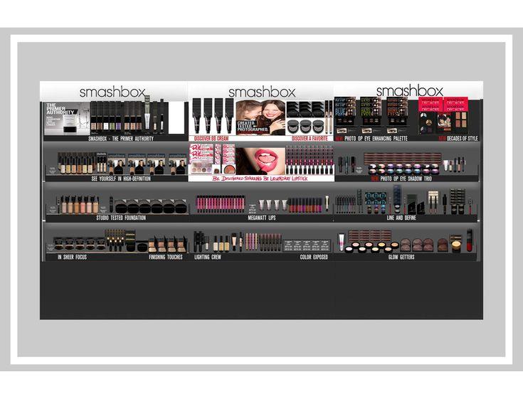 3-bay gondole à Sephora pour Be campagne légendaire à Smashbox Cosmetics