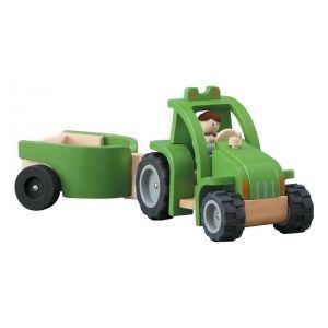 tracteur plantoys avec remorque jouet en bois