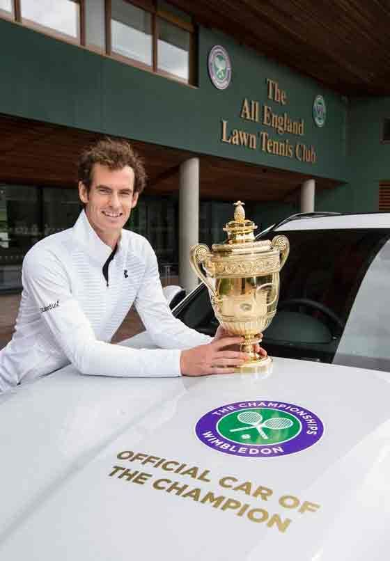 In this massive victory not only got Murray his second Wimbledon crown, but he was also get gifted a personalised car from Jaguar.
