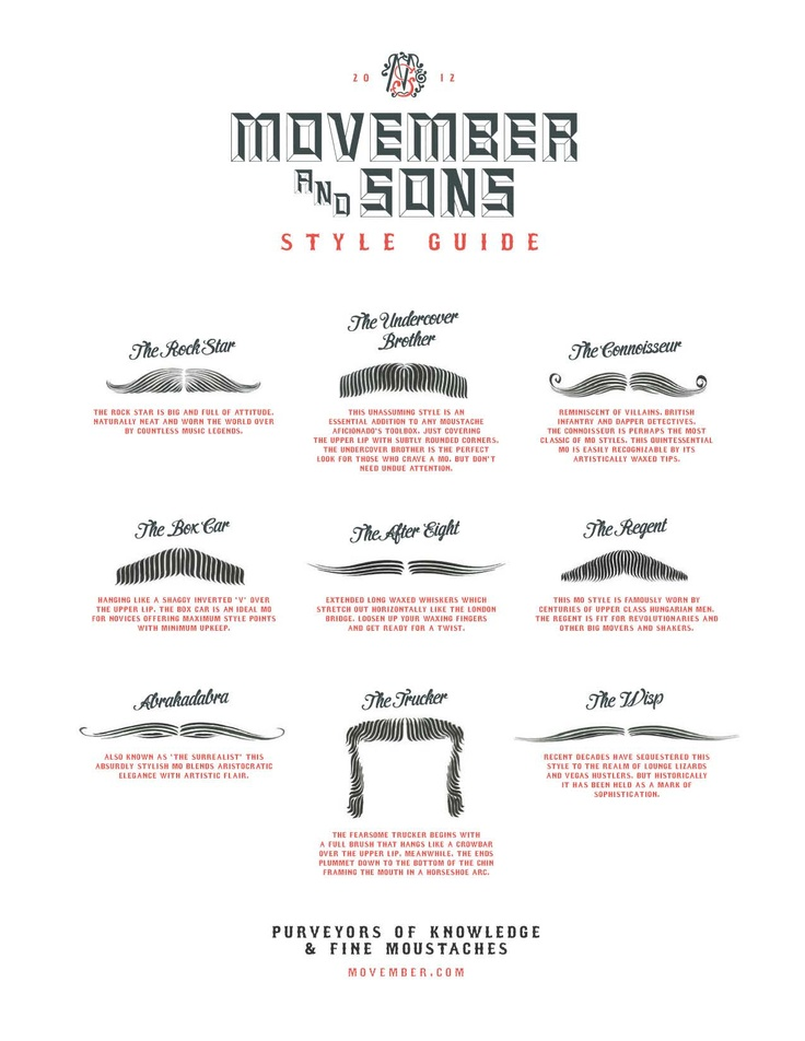 #Movember Style Guide 2012