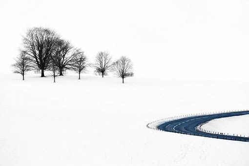 Steven Horsley - Tranquillity in the snow, Chatsworth, Derbyshire, England