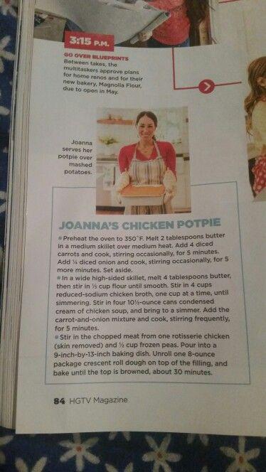 Joanna Gaines Chicken Pot Pie Grub Grub Grub Cooked