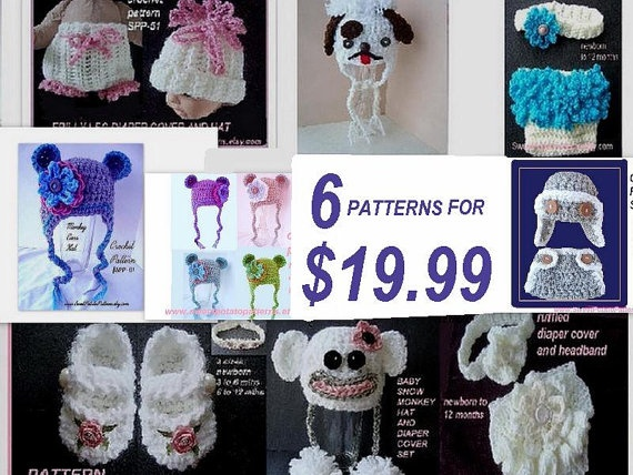 crochet patterns, knitting patterns, SPP 6 for 19.99. ok to sell your ...