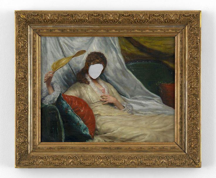 Hans-Peter Feldmann,Untitled,Oil on canvas,57 x 68 cm. Photo courtesySimon Lee Gallery Hong Kong and the artist.