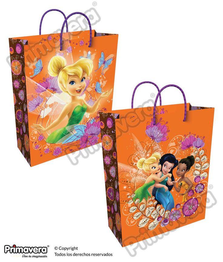 Bolsa Regalo Premium Tinkerbell http://envoltura.papelesprimavera.com/product/bolsa-regalo-personajes-nina-premium-hadas-4/