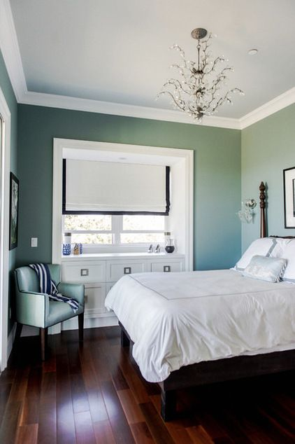by Ashley Camper Photography  Sarah Schmidt Makawao ~ Maui Oval Room Blue by Farrow and Ball (check article for other colour names (links to Houzz article....)
