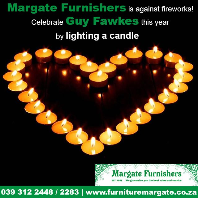 Celebrate #GuyFawkes this year by lighting a #candle #BANfireworks http://bit.ly/1Relxy5
