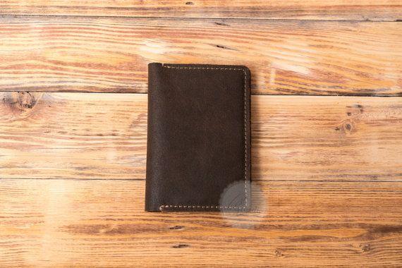 Leather passport cover genuine leather passport holder billfold passport wallet minimal  passport case passport organizer travel wallet